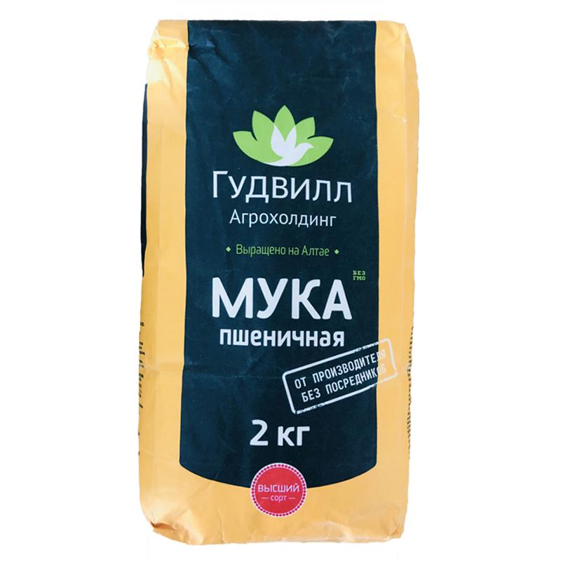 【包邮】 俄罗斯进口谷德维尔小麦粉2kg*1袋