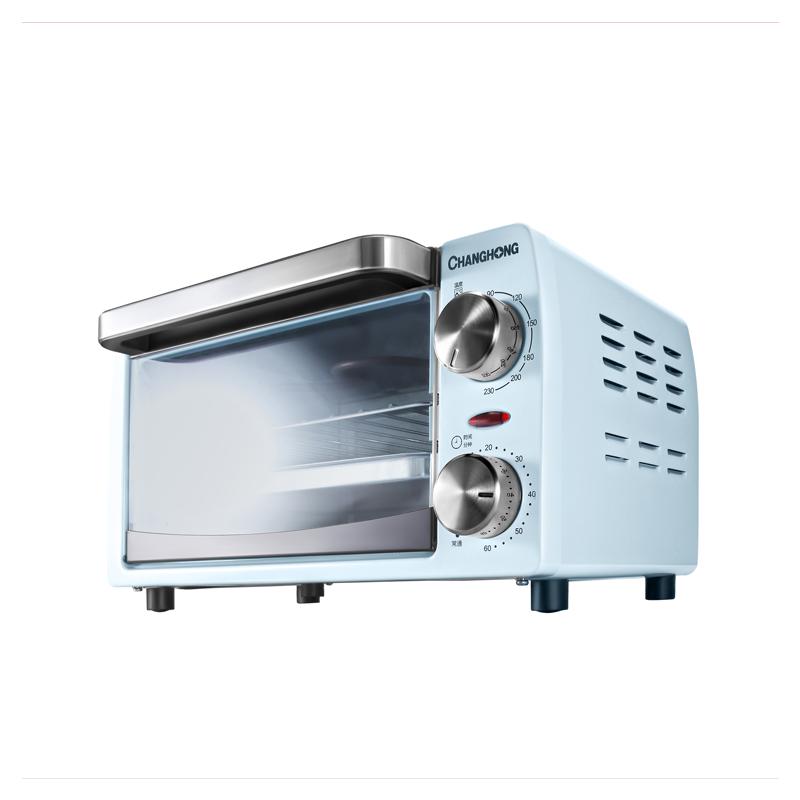 长虹(CHANGHONG) 电烤箱CKX-10J01 ,电烤箱 红外线发热管,穿透力强,速热节能 10升 电烤箱CKX-10J01
