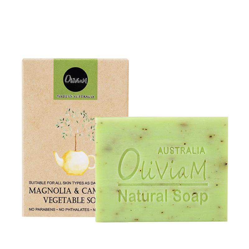 Oliviam木兰山茶花植物精油皂