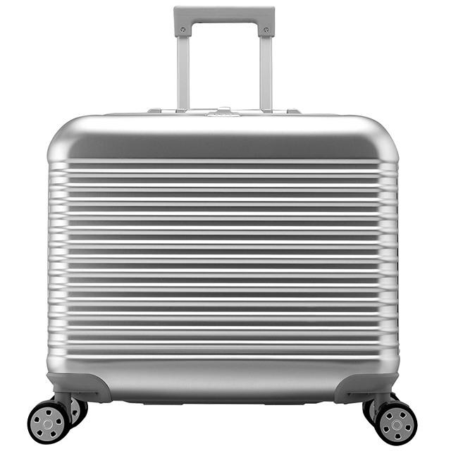 GKO铝合金密码箱 17寸飞机行李箱男拉杆箱万向轮 商务登机箱旅行箱子女A款17寸