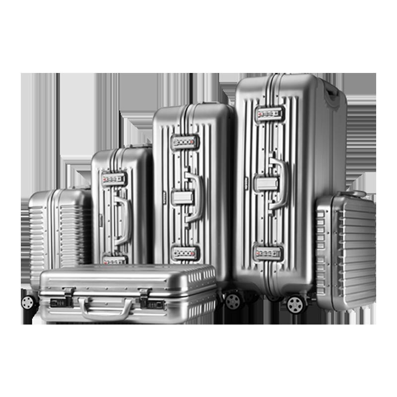 GKO铝镁合金阳极氧化表面一体成型轻铝箱旅行箱行李箱子A款24寸
