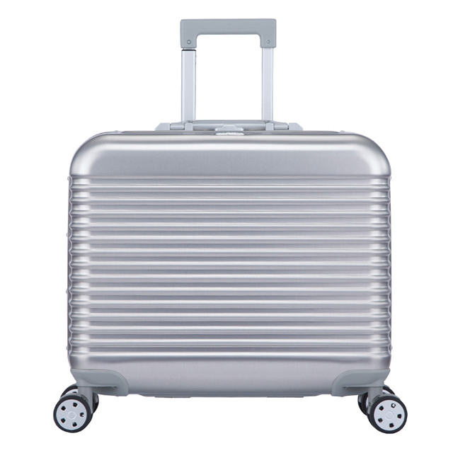 ECCORE铝镁合金全铝 拉杆箱 万向轮女金属旅行箱男商务登机海关锁E可B款17寸