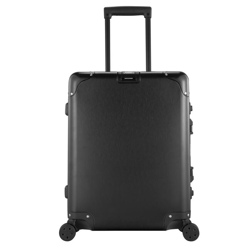 GKO硬箱旅行箱 箱子 女行李箱 登机箱铝镁合金拉杆箱万向轮登机箱子男C款拉丝涂鸦表面20寸