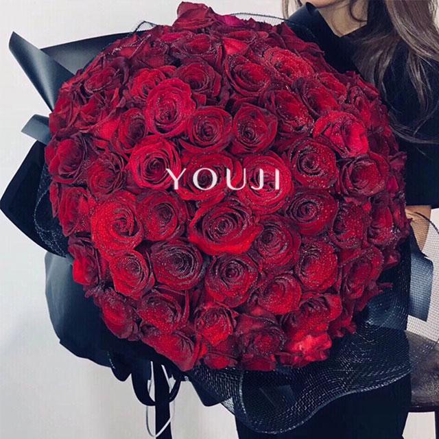 YOUJI-深爱/99朵玫瑰只因爱你(1束)尤己鲜花花束定制仅限北京同城直送