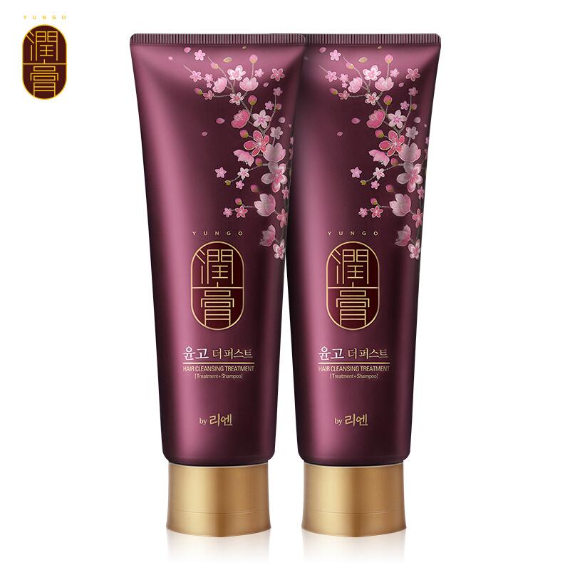 LG韩国进口睿嫣润膏舒盈滋养洗发水250ml*2 多效洗护合一
