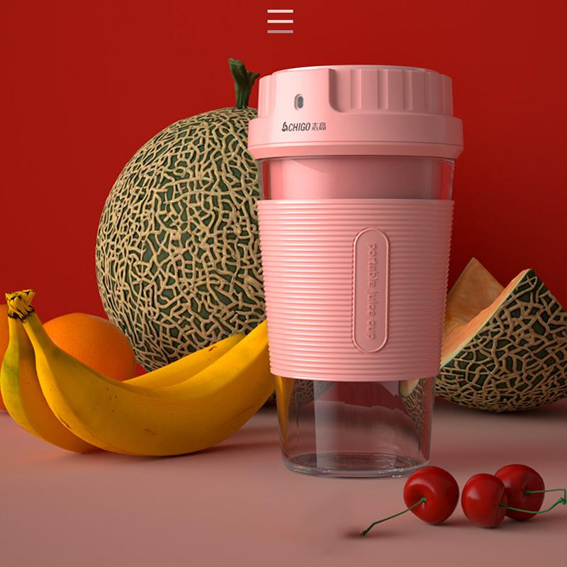 志高(CHIGO)摇摇杯无线榨汁机   磁吸附充电  2019新款便携式榨汁机 ZG-TJ07