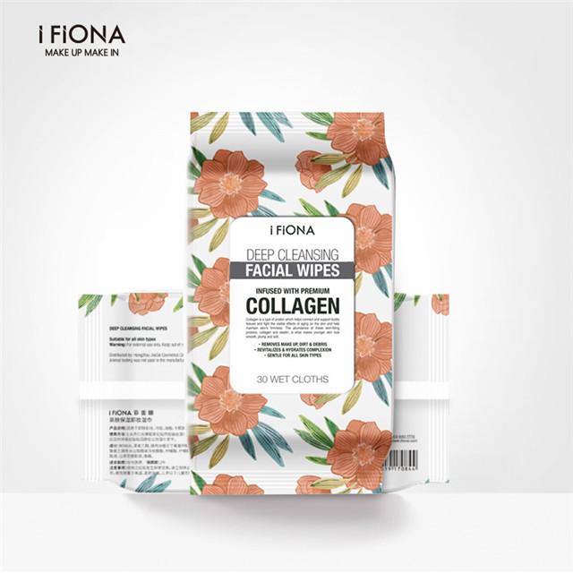 iFiona菲奥娜植物卸妆湿巾便携免洗30片/包