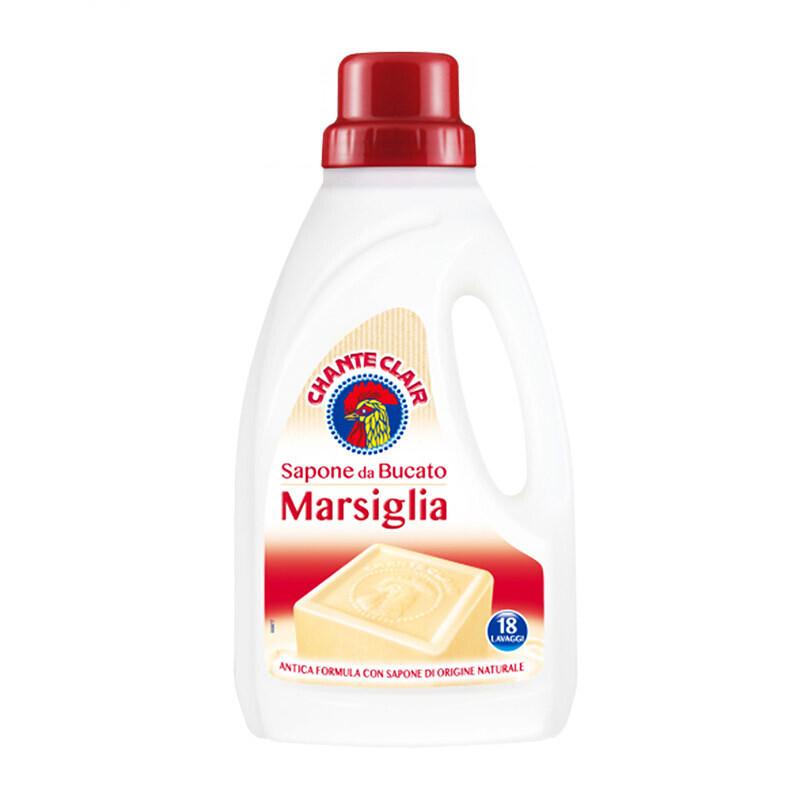 意大利进口(CHANTECLAIR)大公鸡管家洗衣液马赛皂1000ml*2瓶