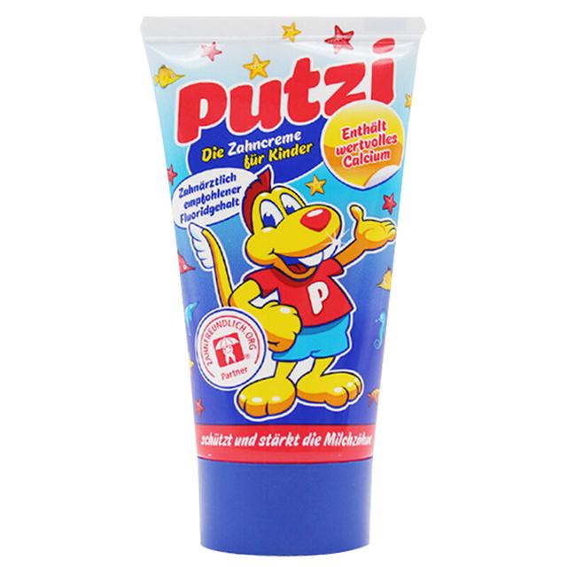 Putzi德国宝儿滋儿童可吞食含钙牙膏(1-7岁)*50ml