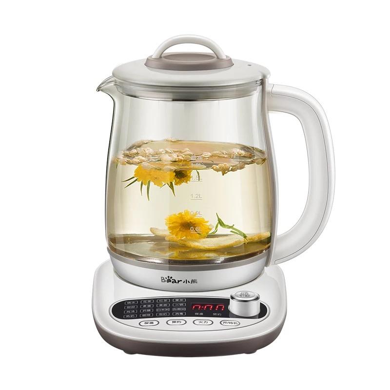 小熊养生壶家用全自动玻璃一体1.8升多功能养身电水壶花茶煮茶器