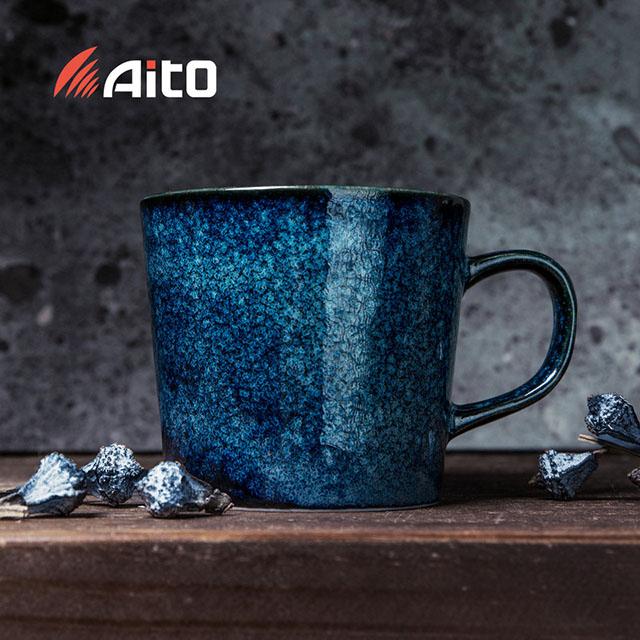 日本原产AITO Natural color美浓烧陶瓷摩登色马克杯