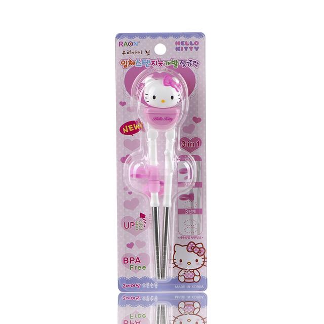 韩国原产RAON卡通儿童筷子学习筷练习筷Hello Kitty系列