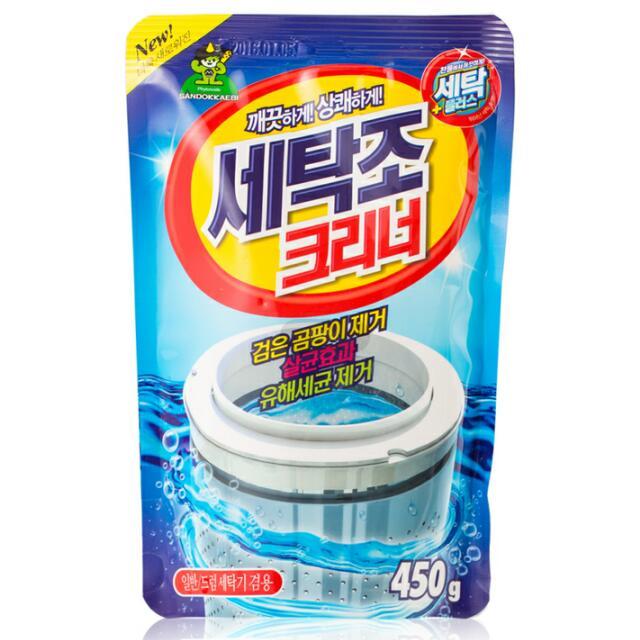 韩国原产Sandokkaebi山小怪植物萃取洗衣机机槽清洁剂2包