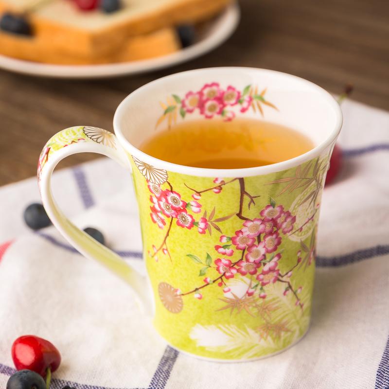 英国DUNOON丹侬Jura型骨瓷茶杯水杯马克杯樱花