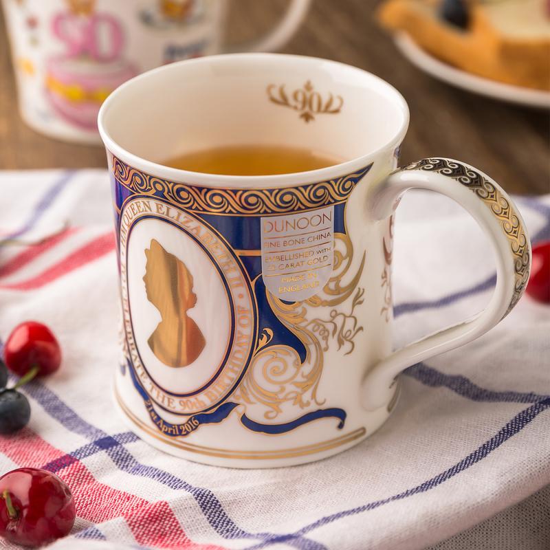 英国原产DUNOON丹侬Wessex型骨瓷茶杯水杯马克杯女王头像