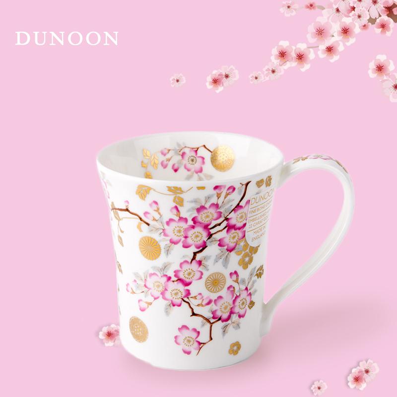 英国原产DUNOON丹侬骨瓷茶杯水杯马克杯樱花