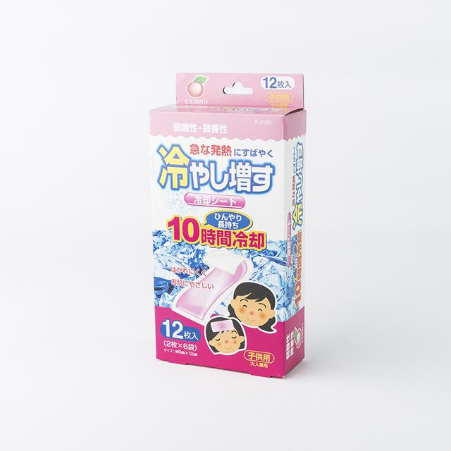 日本原产KOKUBO小久保儿童降温贴冰冰贴蜜桃味(12片)