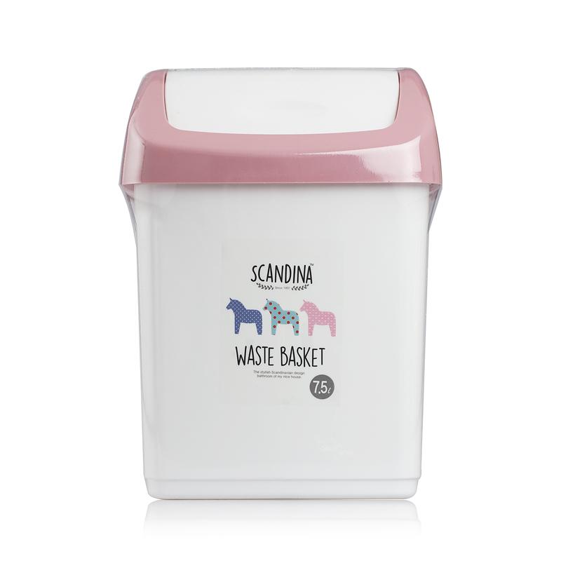 韩国原产SCANDINA翻盖垃圾桶卫生纸桶废纸篓