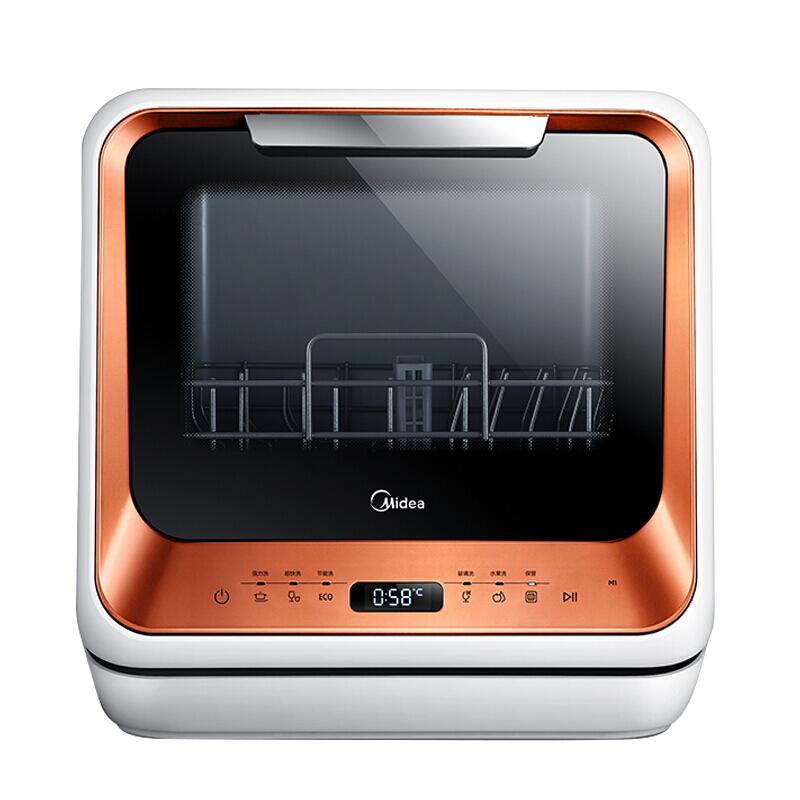 美的(Midea) 4套 美的范 洗碗机M1 家用台式免安装 除菌洗碗机洗水果 3口之家 标准版