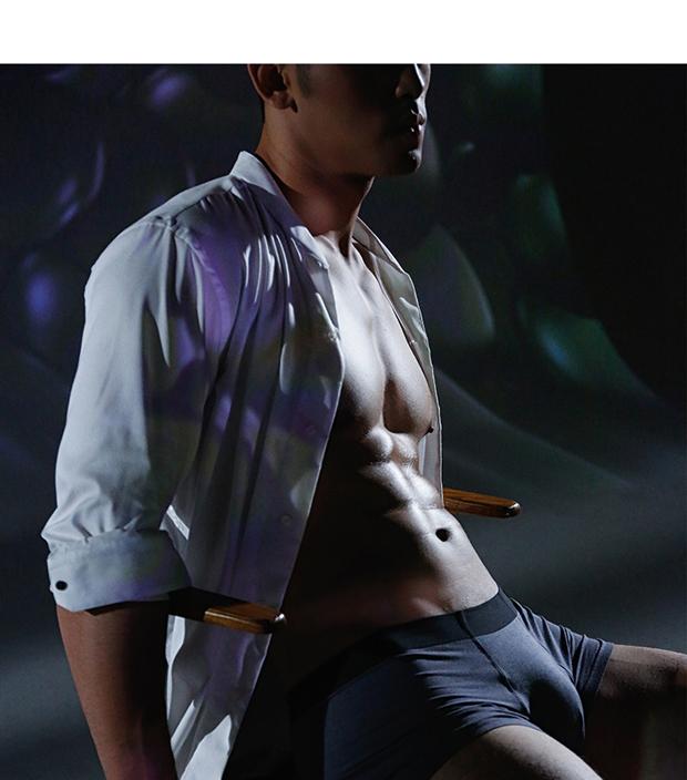 MILMUMU男士内裤日本磁石莫代尔无痕平角卫裤透气抗菌纳米银离子青年阿罗裤 深蓝色