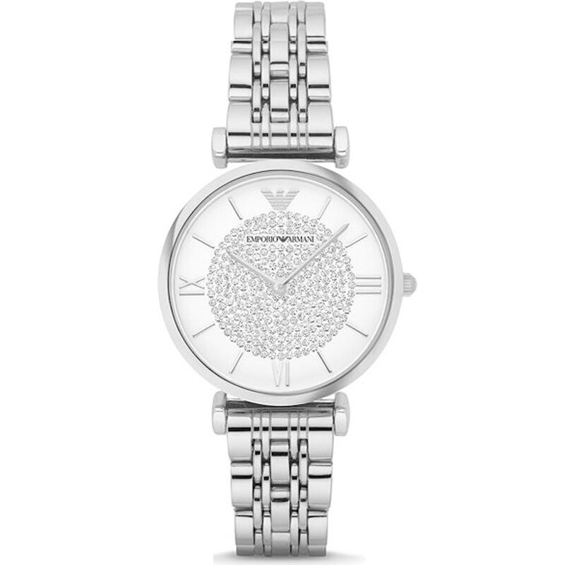 阿玛尼(ARMANI)女士手表 优雅简约圆盘薄款经典潮流时装女表腕表 防水钢带石英表女 AR1925