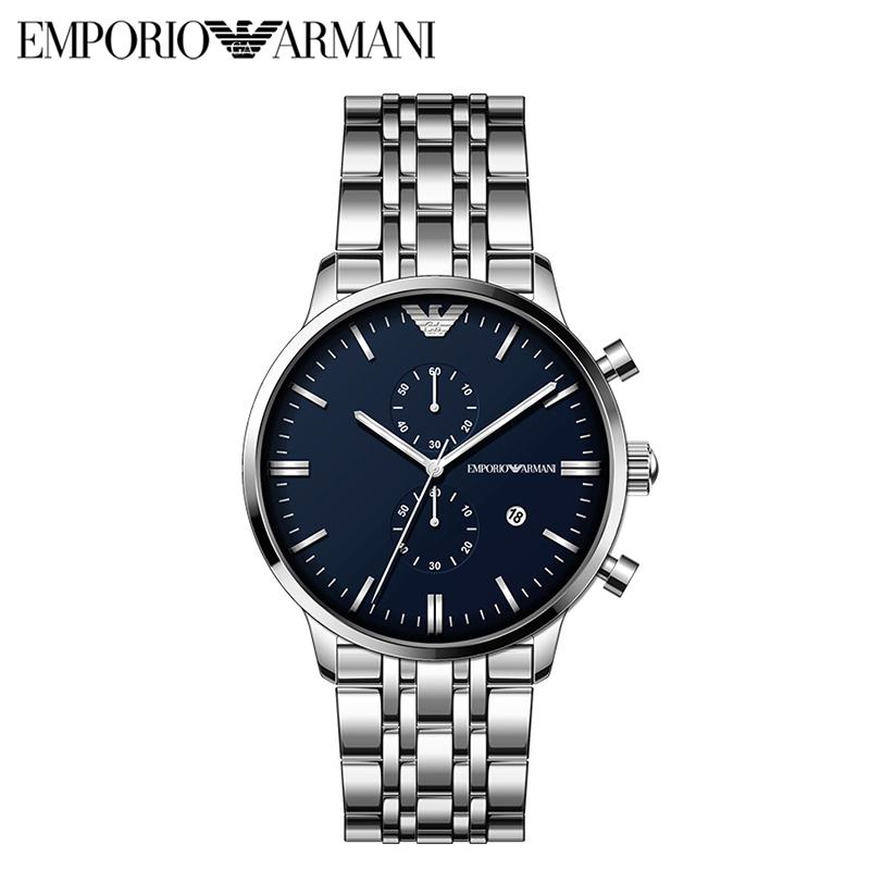 阿玛尼(ARMANI)手表 男士手表多功能时尚腕表 商务男士石英表 阿玛尼手表 AR1648钢带