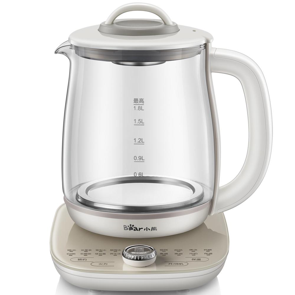 小熊(Bear)养生壶煮茶壶花茶壶煎药壶全自动家用玻璃一体电热水壶保温 YSH-A18U8