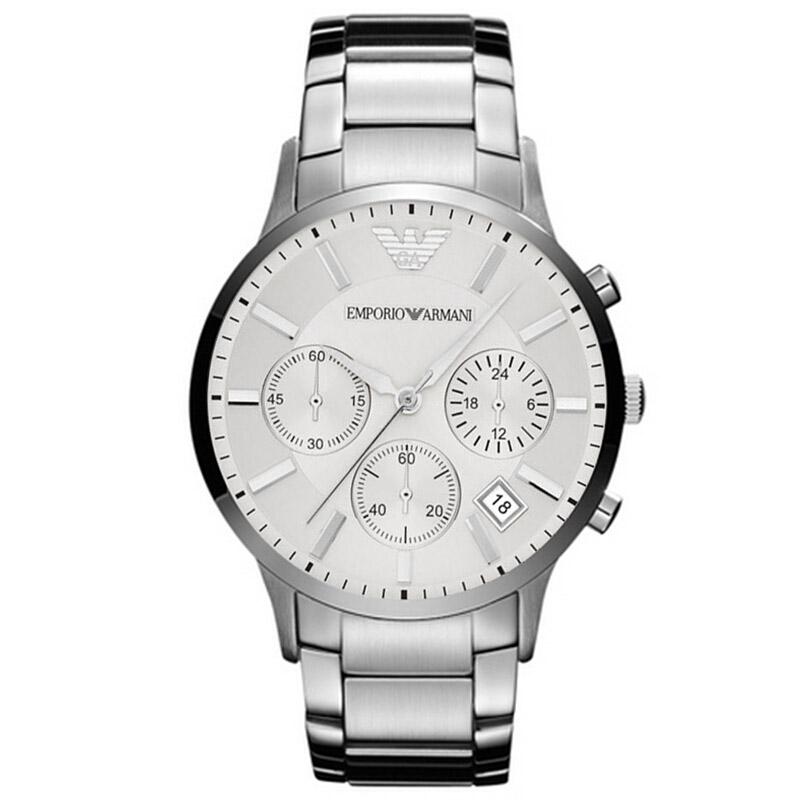 阿玛尼(ARMANI)手表 男士手表多功能时尚腕表 商务男士石英表 阿玛尼手表 AR2458钢带