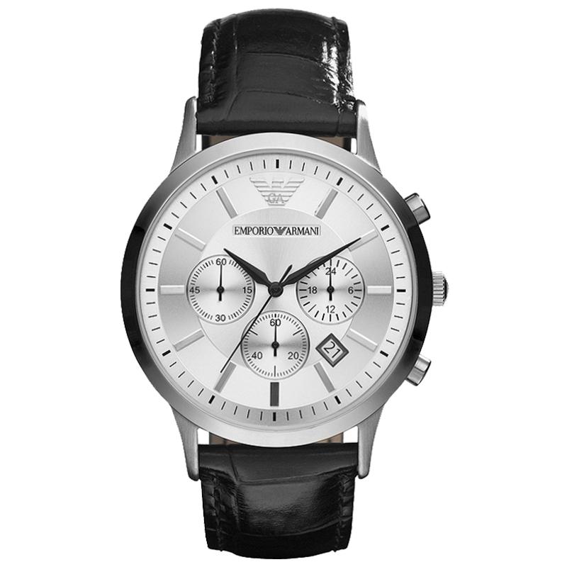 阿玛尼(Emporio Armani)手表 潮流意大利风格简约时尚男士手表AR2432