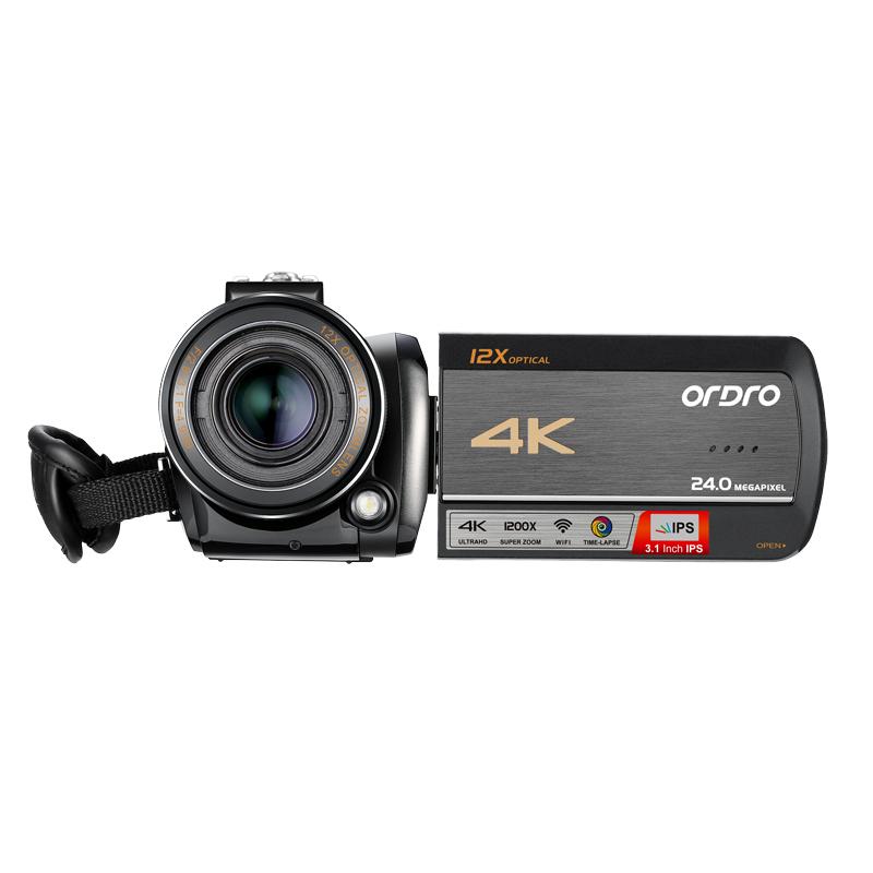 欧达4K直播数码摄像机j照相机一体机AC5(不含SD内存卡)