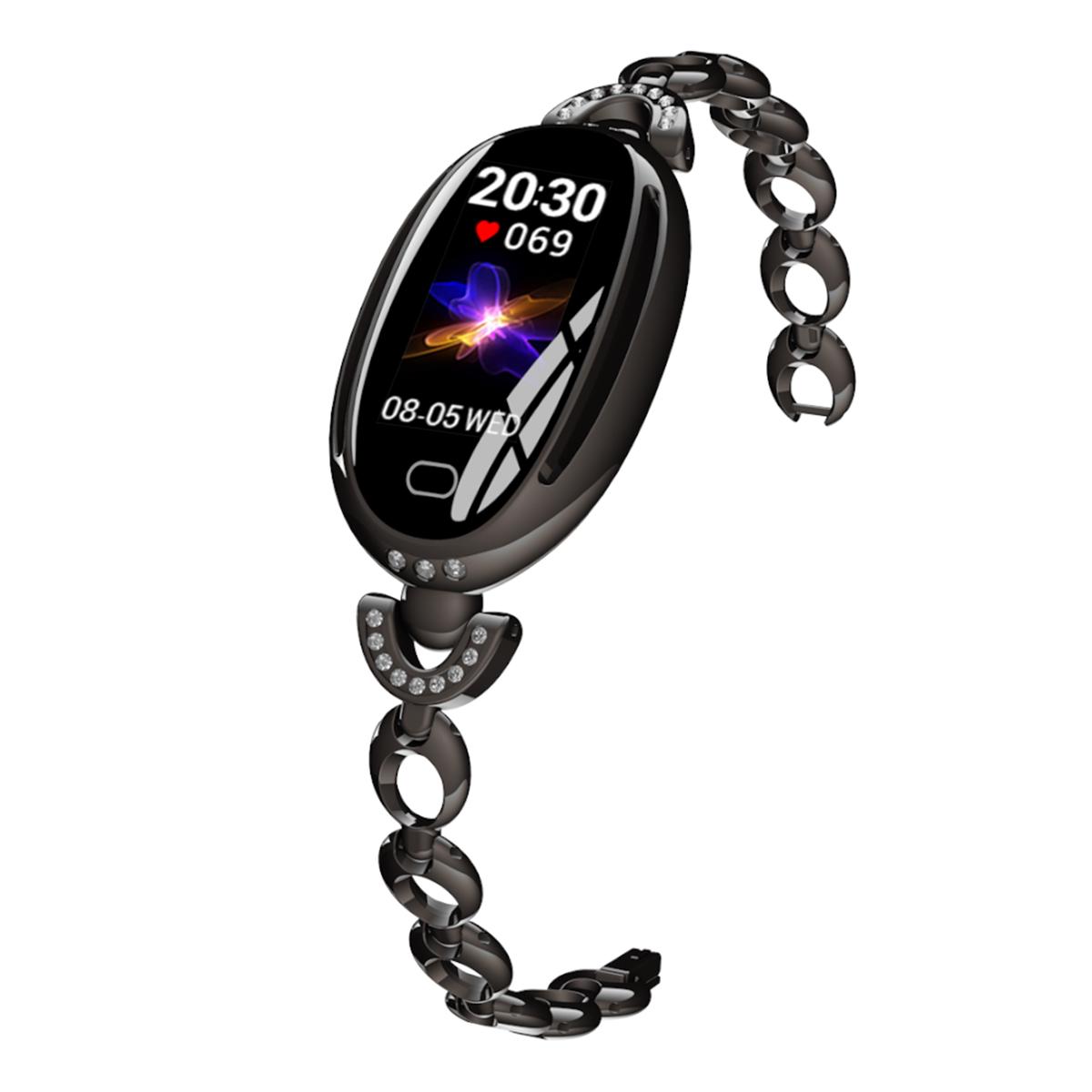 欧达智能时尚潮流女性镂空心率血压手环E68