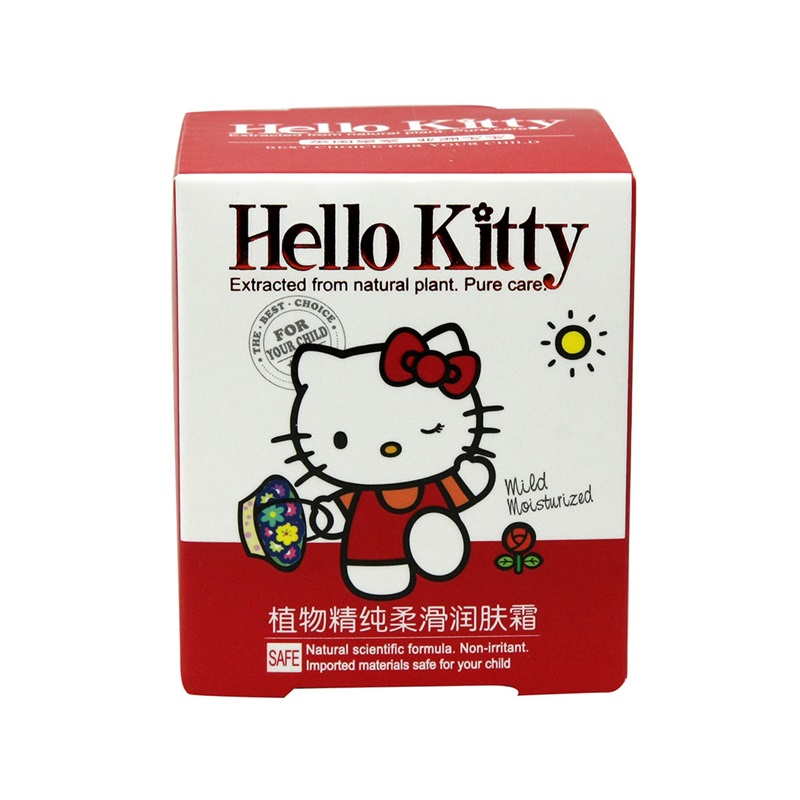 HelloKitty凯蒂猫儿童植物精纯柔滑润肤霜60g(2个装,120g)