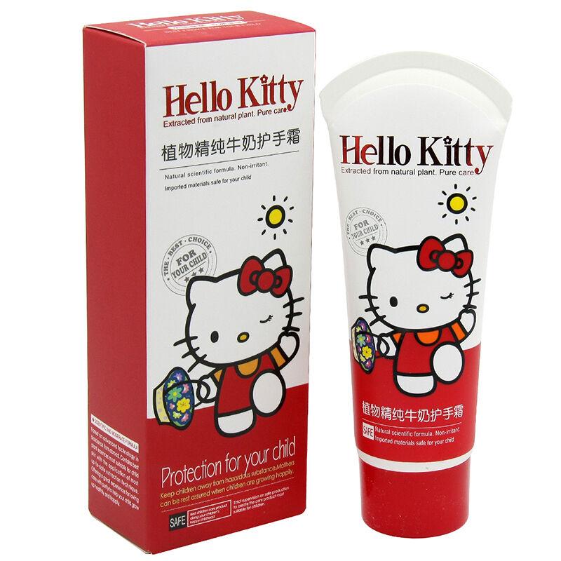 HelloKitty凯蒂猫儿童植物精纯牛奶护手霜80g(3个装,240g)