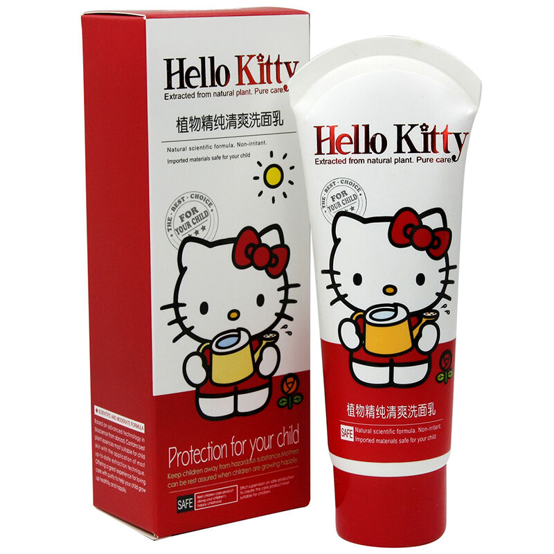 HelloKitty凯蒂猫儿童植物精纯清爽洗面乳80g(2个装,160g)