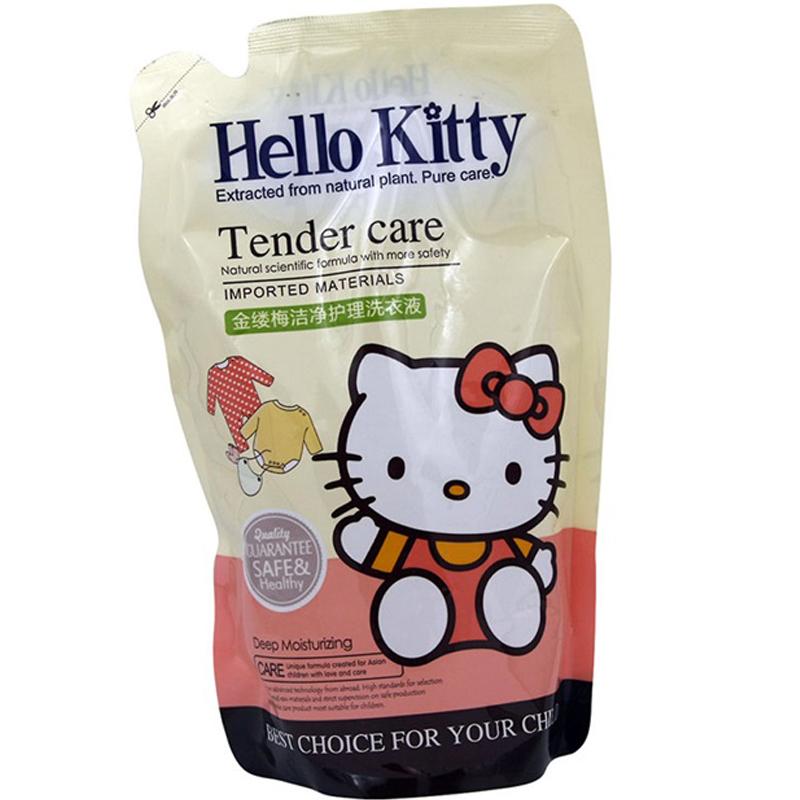 HelloKitty凯蒂猫金缕梅新生儿幼儿洁净护理洗衣液(袋装) 500g(3个装,1500g)