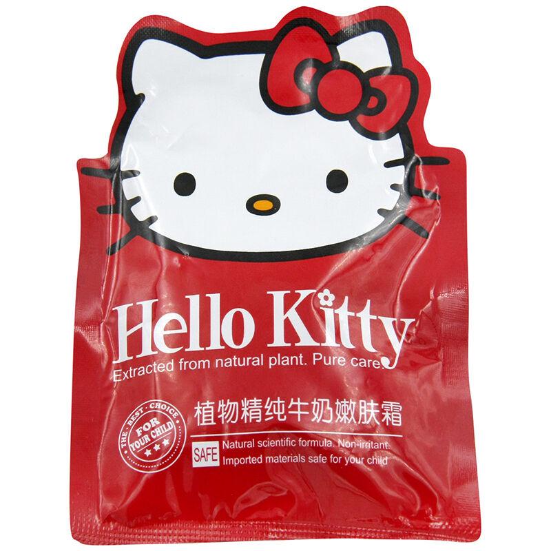 HelloKitty凯蒂猫儿童植物精纯牛奶嫩肤霜(袋装)30g(4个装,120g)
