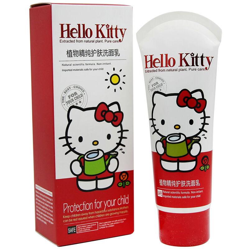HelloKitty凯蒂猫儿童植物精纯护肤洗面乳80g(2个装,160g)