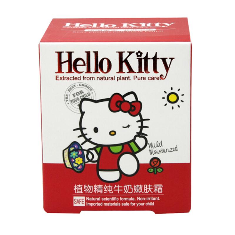 HelloKitty凯蒂猫儿童植物精纯牛奶嫩肤霜60g(2个装,120g)