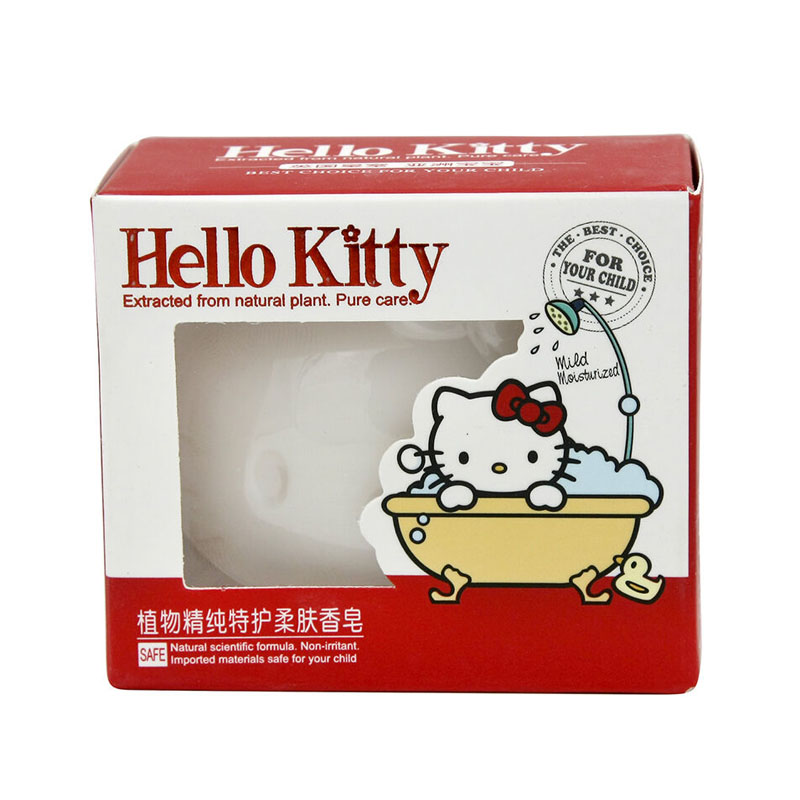 HelloKitty凯蒂猫儿童植物精纯特护柔肤香皂100g(4个装,400g)