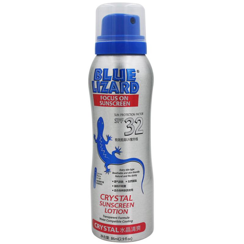 BLUE LIZARD蓝蜥蜴孩子成人都可用水晶防晒喷雾SPF32++ 86ml
