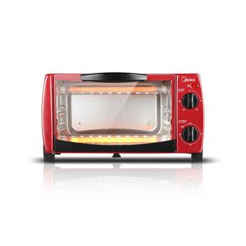 美的(Midea)电烤箱 家用 迷你多功能 烘焙蛋糕小烤箱 T1-102D 火红色
