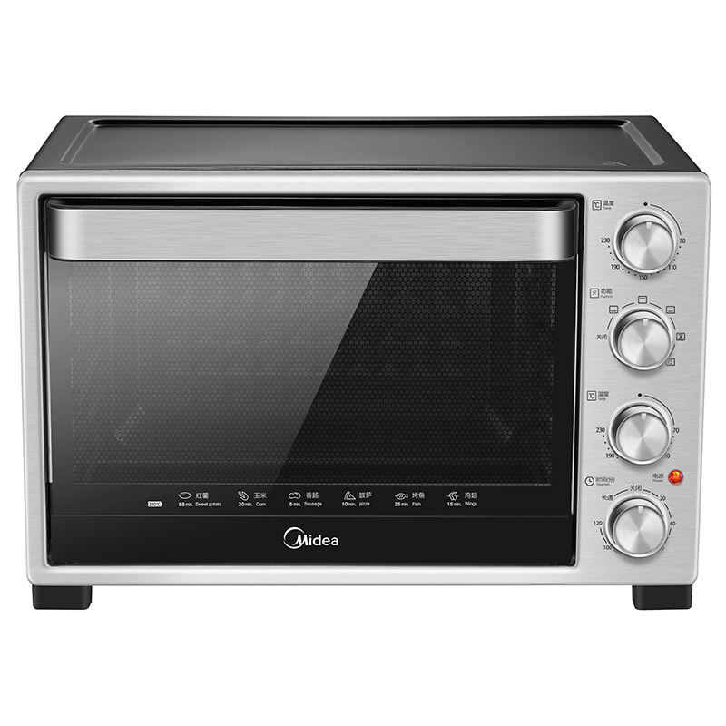 Midea/美的 T3-321B家用多功能烘焙 360°旋转烤叉银色电烤箱