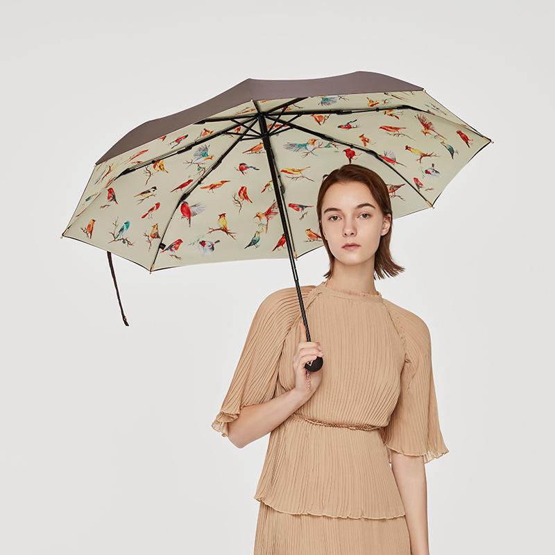 蕉下晴雨两用伞折叠伞防晒太阳三折双层森系女神遮阳伞防紫外线女