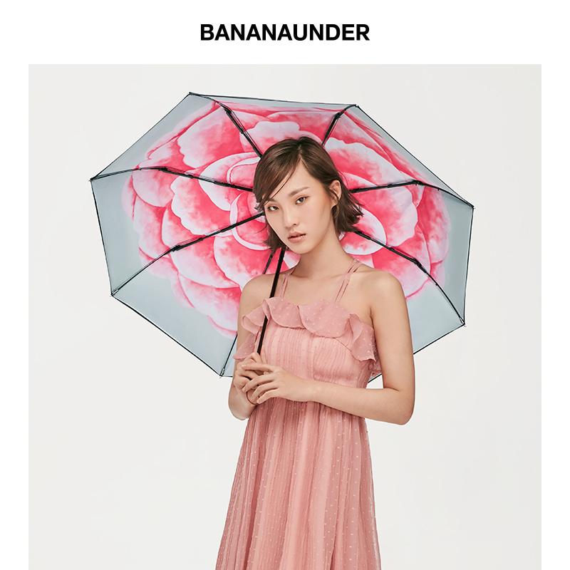 焦下双层小黑伞超强防晒紫外线女太阳遮阳雨伞