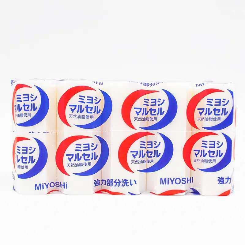 日本MIYOSHI三芳洗衣皂内衣内裤除菌宝宝衣物去污肥皂5块装