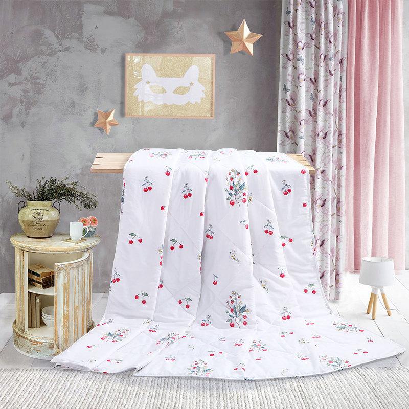 水星家纺(MERCURY) 夏被纯棉空调被  可水洗全棉印花午睡被 小甜恬150*200cm