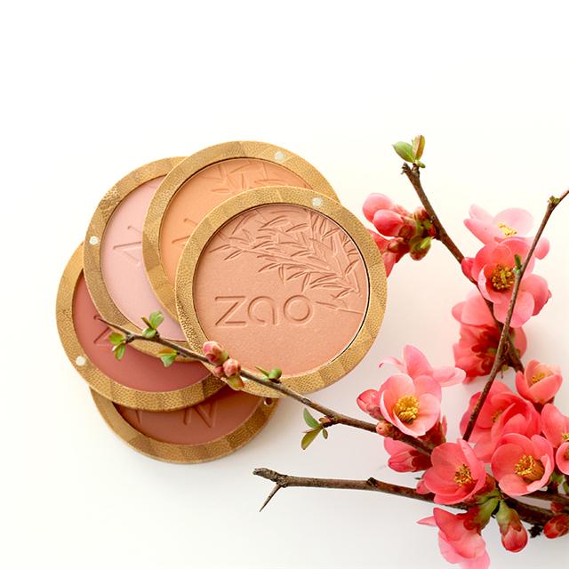 ZAO法国进口有机彩妆-鲜机稻米养肤调色胭脂9g