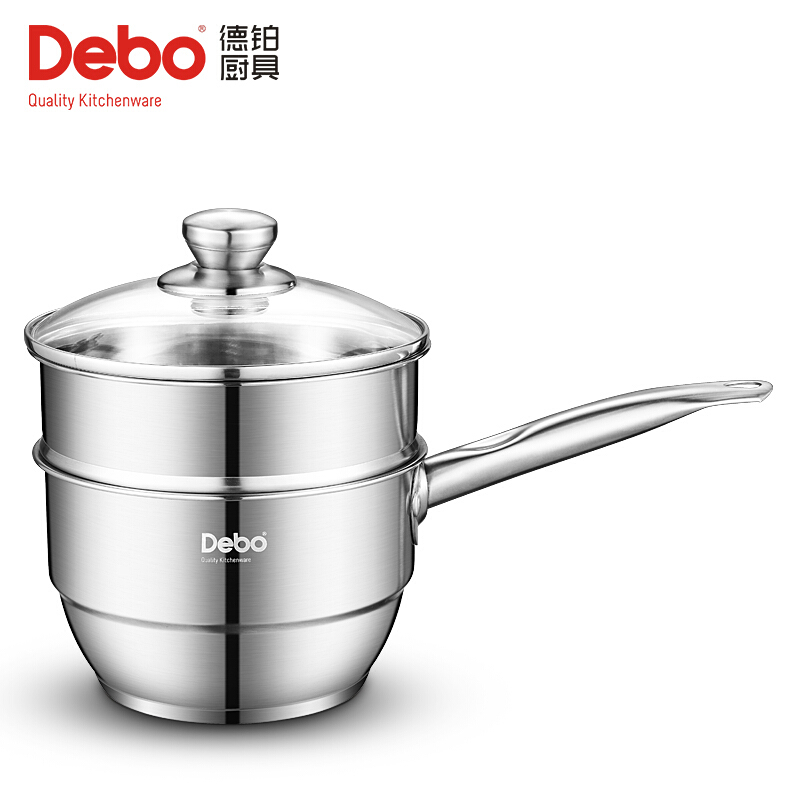 Debo 德铂 卡贝尔奶锅不锈钢小汤锅 奶锅煮热牛奶锅电磁炉锅