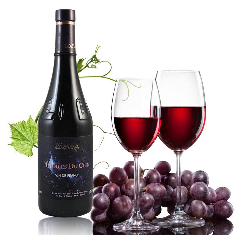 朗非梵 星空干红葡萄酒750ml 法国原瓶进口红酒
