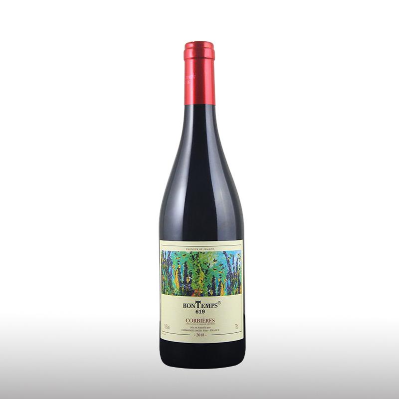 梵特斯619葡萄酒750ml 法国高度红酒14.5度 团圆生日聚会送礼